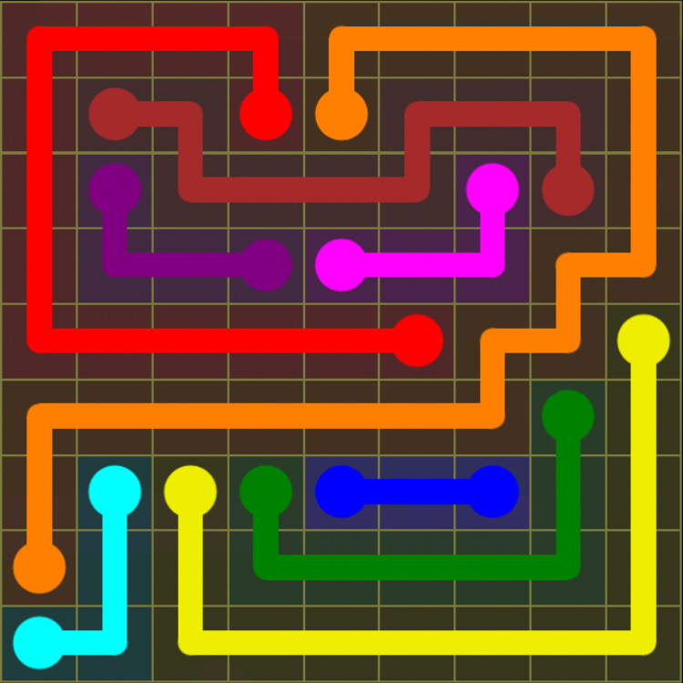 Flow Free Regular Pack 9x9 Level 14 Solution Levelsolved
